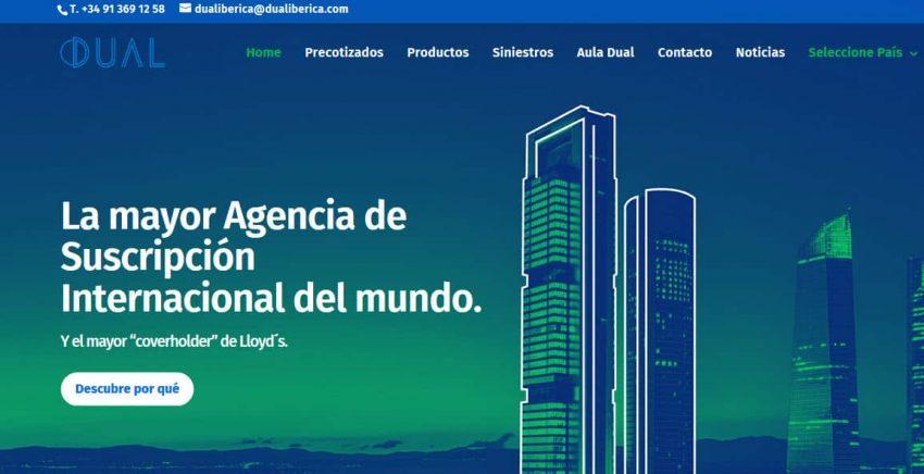 DUAL IBÉRICA RIESGOS PROFESIONALES, agencia de suscripción de LLOYD'S y miembro de ASASEL estrena web