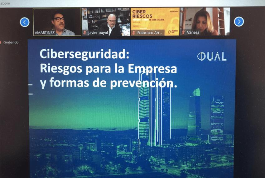 Participación de Dual Ibérica en una jornada sobre Riesgos Cibernéticos en la Empresa.
