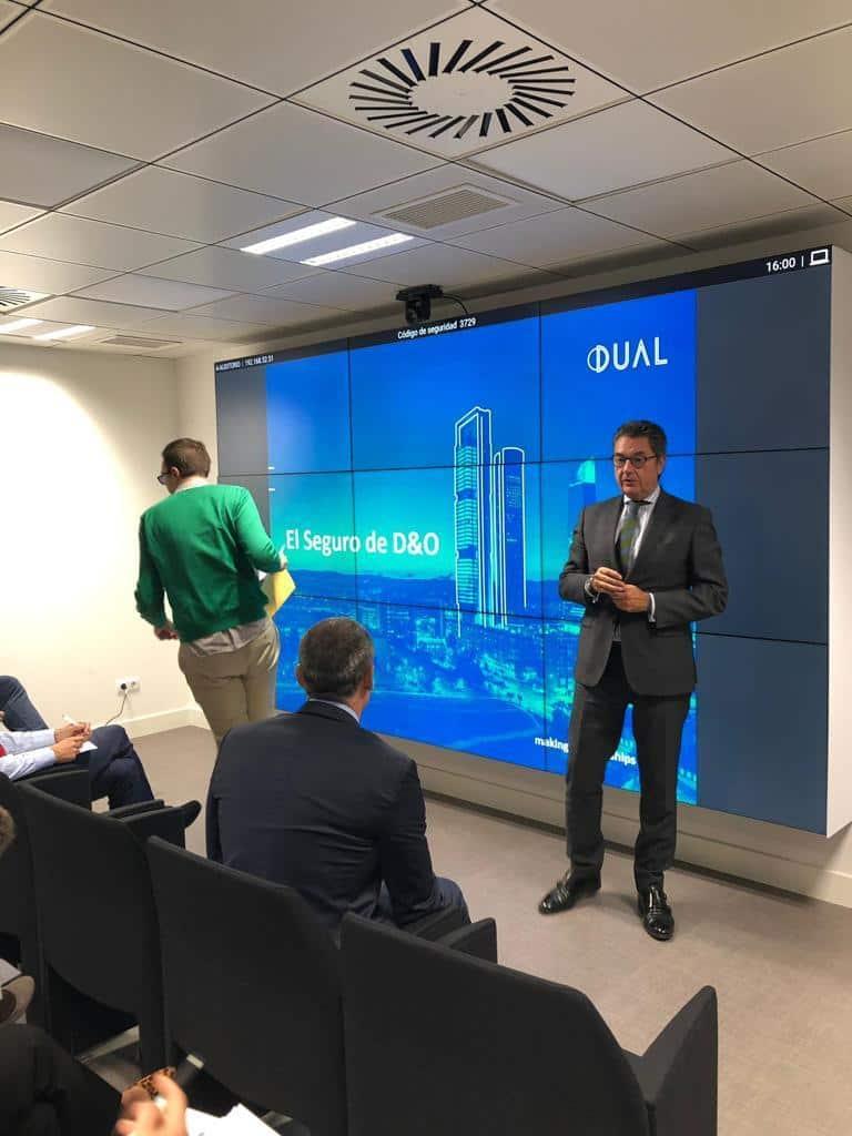 Dual Ibérica Riesgos Profesionales SA imparte Jornada sobre los Riesgos de los Administradores y Directivos de Sociedades.