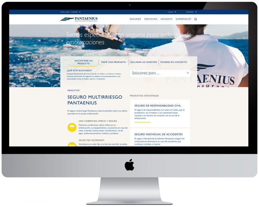 Nueva imagen de la página web de Pantaenius